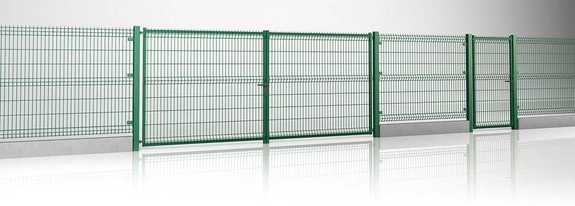 Решітчасті панелі VEGA 3D - ворота та хвіртка MODEST та панель VEGA B