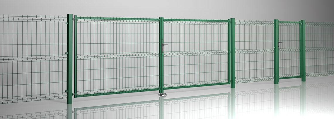 Решітчасті панелі VEGA 3D - ворота та хвіртка MODEST та панель VEGA B + VEGA B Light 80×200
