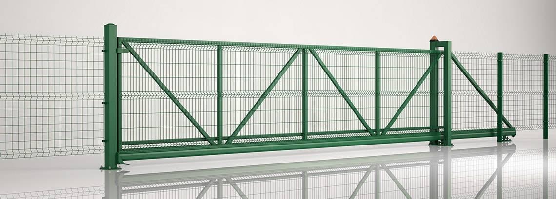 Решітчасті панелі VEGA 3D - пересувні ворота PI 95 та панель VEGA B + VEGA B Light II