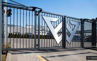 Складні ворота V-KING для промислових об'єктів-1