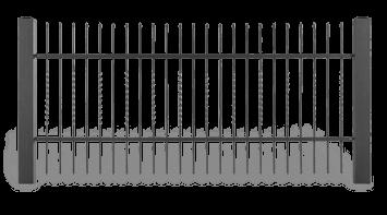 Секція AW.10.23 для системи огорожі STYLE