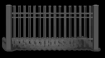 Секція AW.10.26 для системи огорожі STYLE