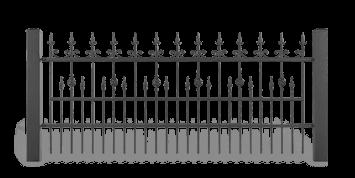 Секція AW.10.33 для системи огорожі LUX