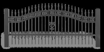 Система елементів для огорожі LUX візерунок AW.10.48