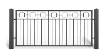 Секція AW.10.51 для системи огорожі LUX