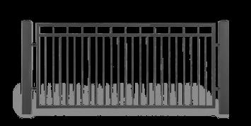 Секція AW.10.54 для системи огорожі LUX