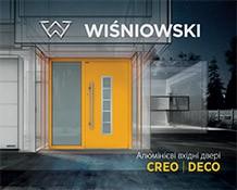 Алюмінієві вхідні двері для дому CREO | DECO