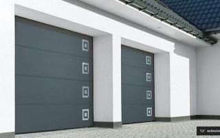 Секційні гаражні ворота UniPro для дому wisniowski-3