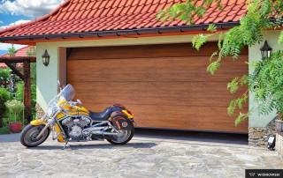Секційні гаражні ворота UniPro для дому wisniowski-12