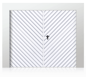 Розпашні двостулкові ворота (похилий лист)