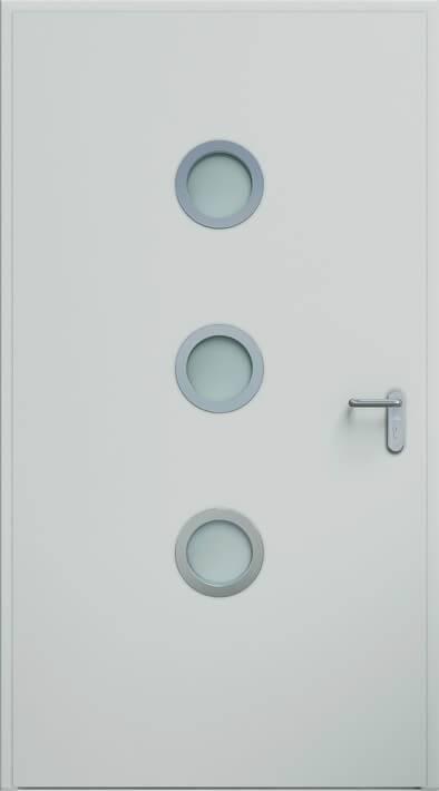 Двері ECO BASIC, ілюмінатор 24 мм | RAL 7035