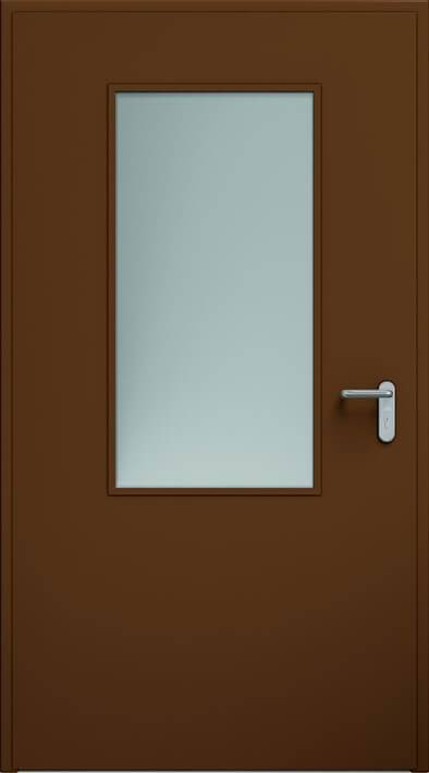Двері ECO, скління 550x1100 мм | RAL 8014