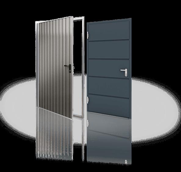 Бокові сталеві двері