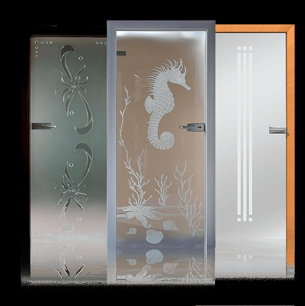 Внутрішні повністю скляні двері
