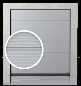 Промислові секційні ворота із панелей з рельєфом V (V)