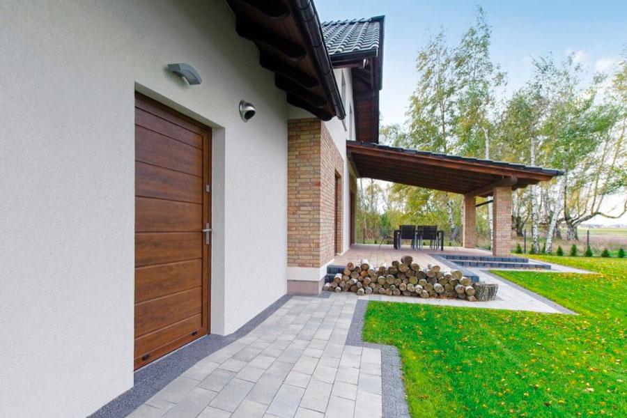 Алюмінієві двері для гаража