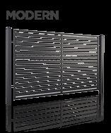 Металевий паркан modern