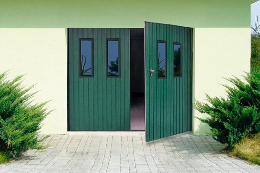 Розпашні гаражні ворота низька ціна